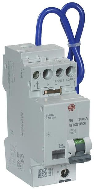 WYLEX NHXSB06AFD  6A B 30Ma Rcbo Afdd Combined Cpd